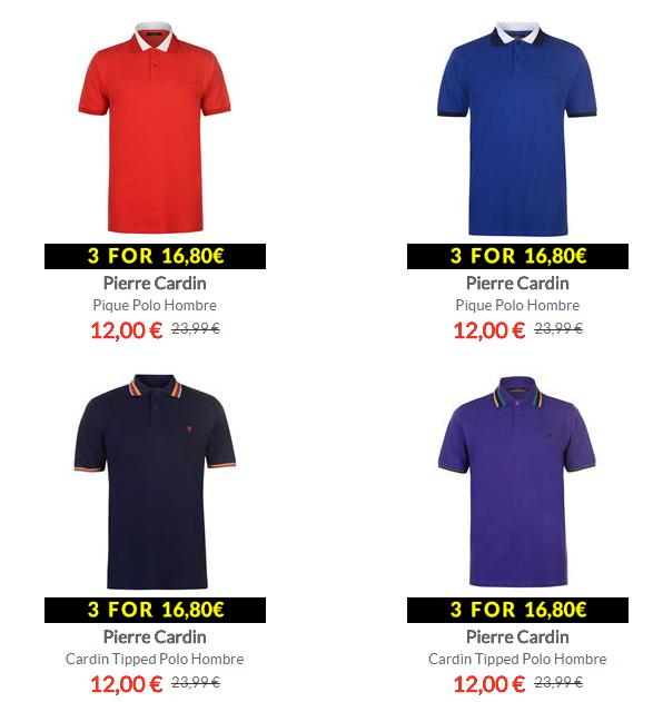3 Polos de Pierre Cardin por 16.80€