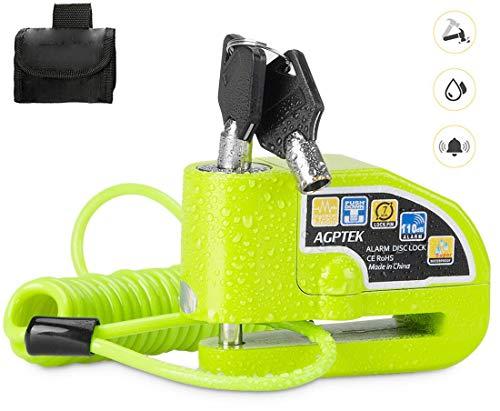 AGPTEK Candado de Disco Moto con Cable recordatorio