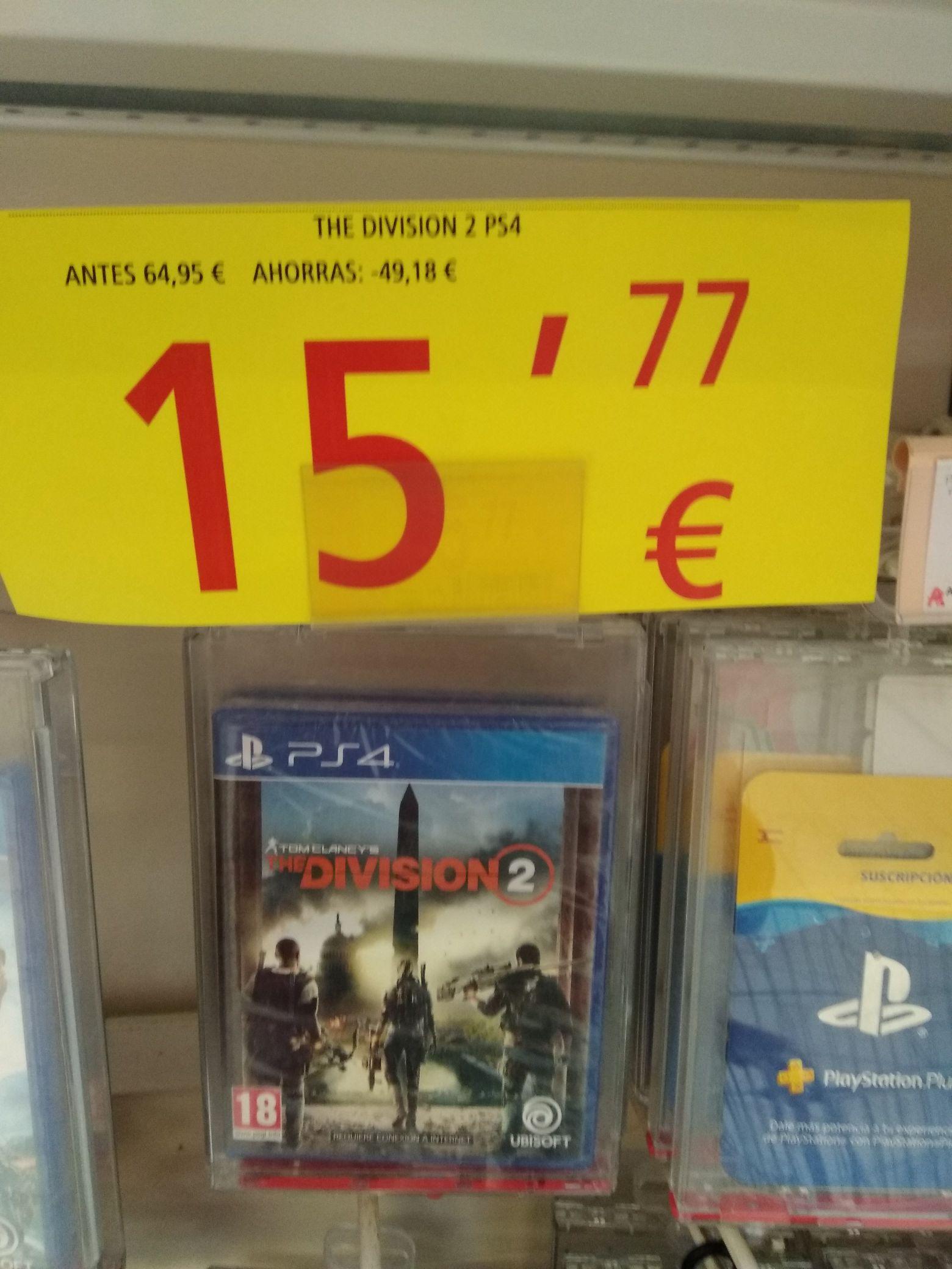 The División 2 PS4 Físico