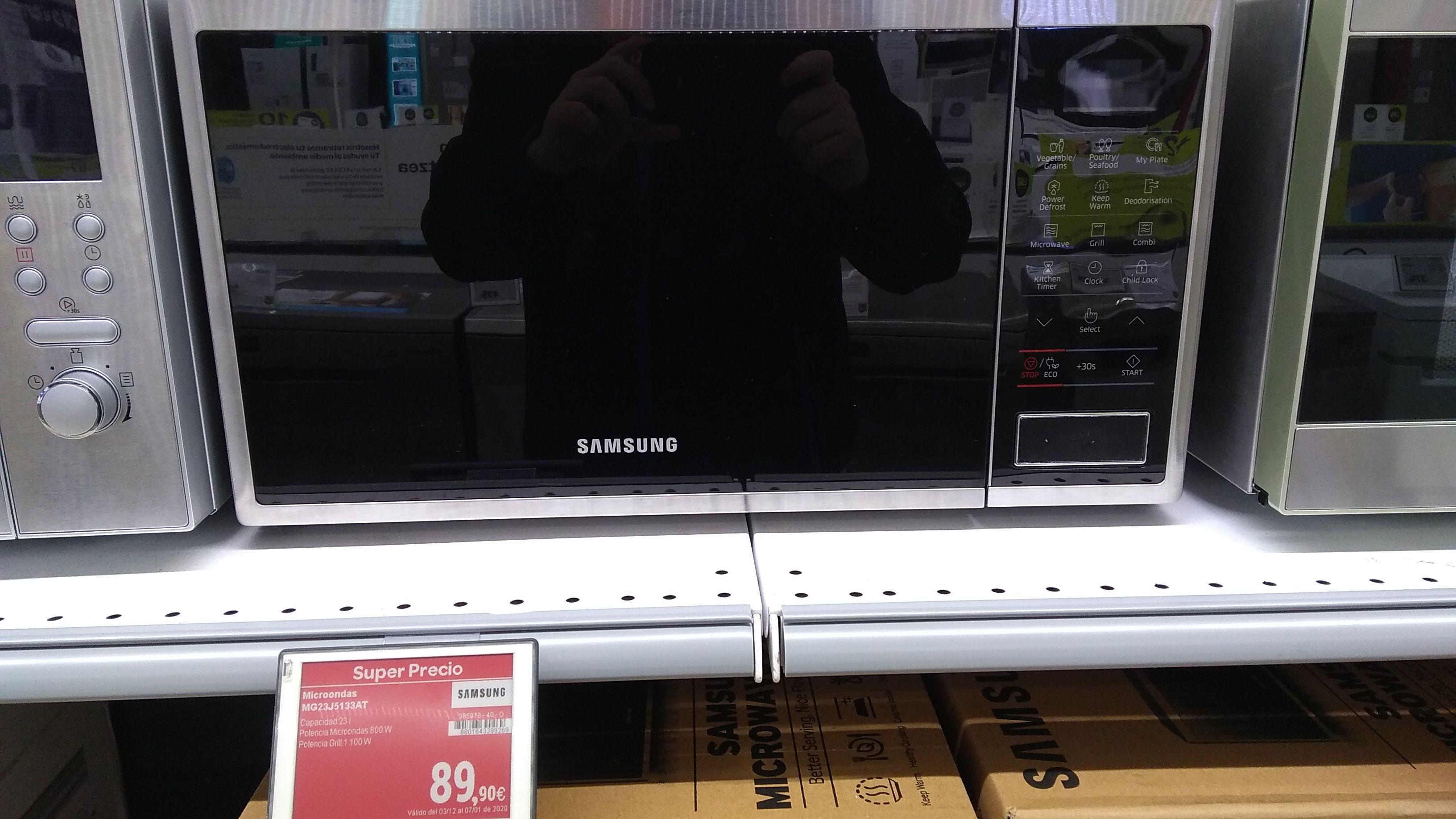 Microondas Samsung MG23J5133AT (Carrefour Sestao)