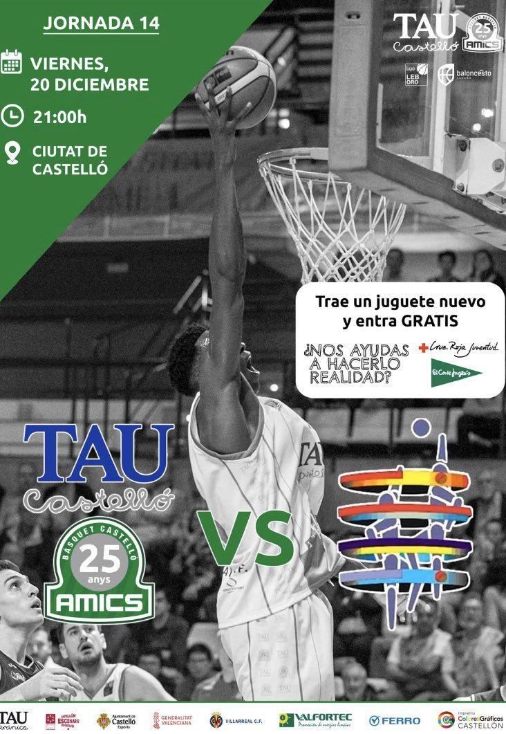 Entrada por juguete para TAU Castelló - Marín Ence (Baloncesto)