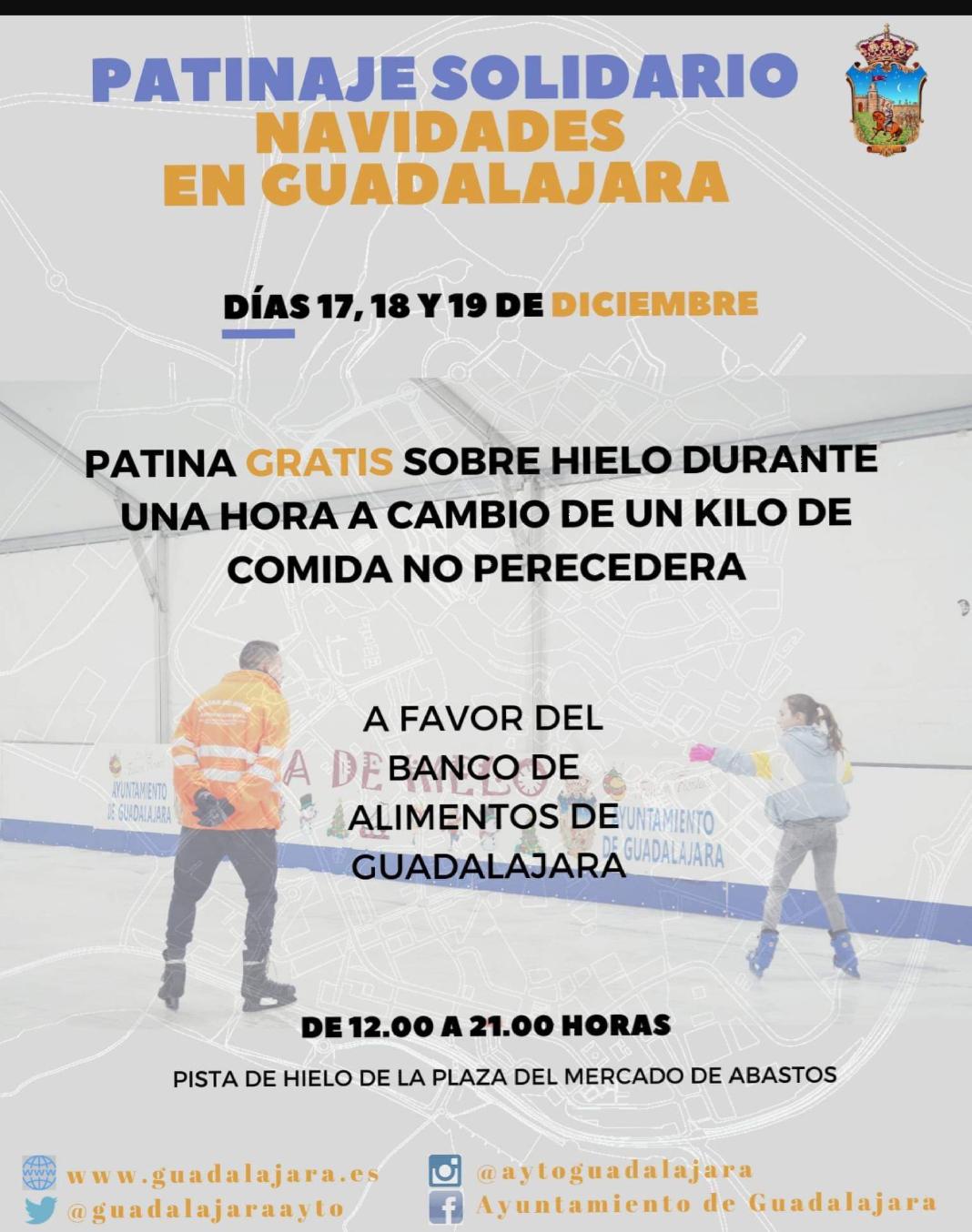 Una hora de pista de hielo gratis por un kilo de comida. Guadalajara