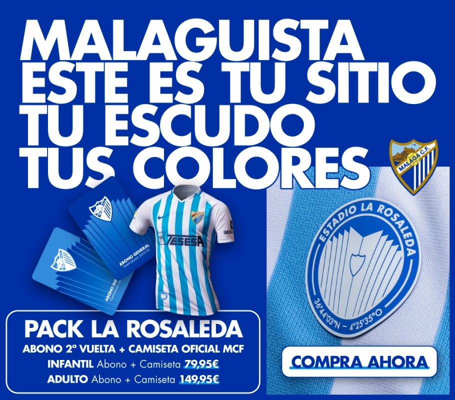 Abono (infantil o adulto) + Camiseta del Málaga CF