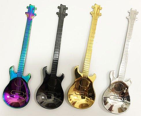 Cucharas con forma de guitarra