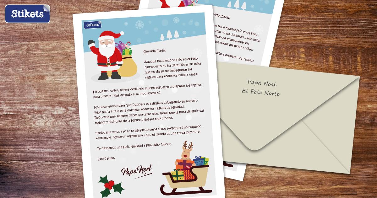 GRATIS carta Papá Noel/ Reyes Magos