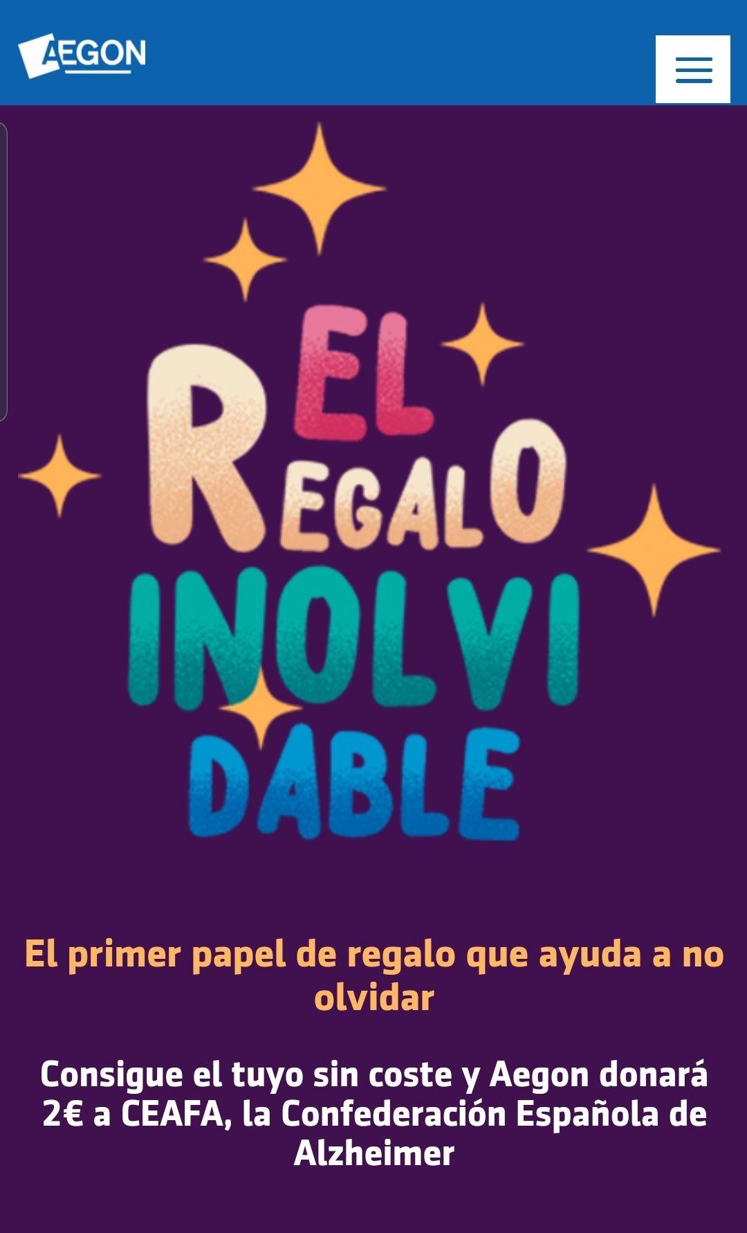 DISPONIBLE DE NUEVO / PAPEL DE REGALO GRATIS