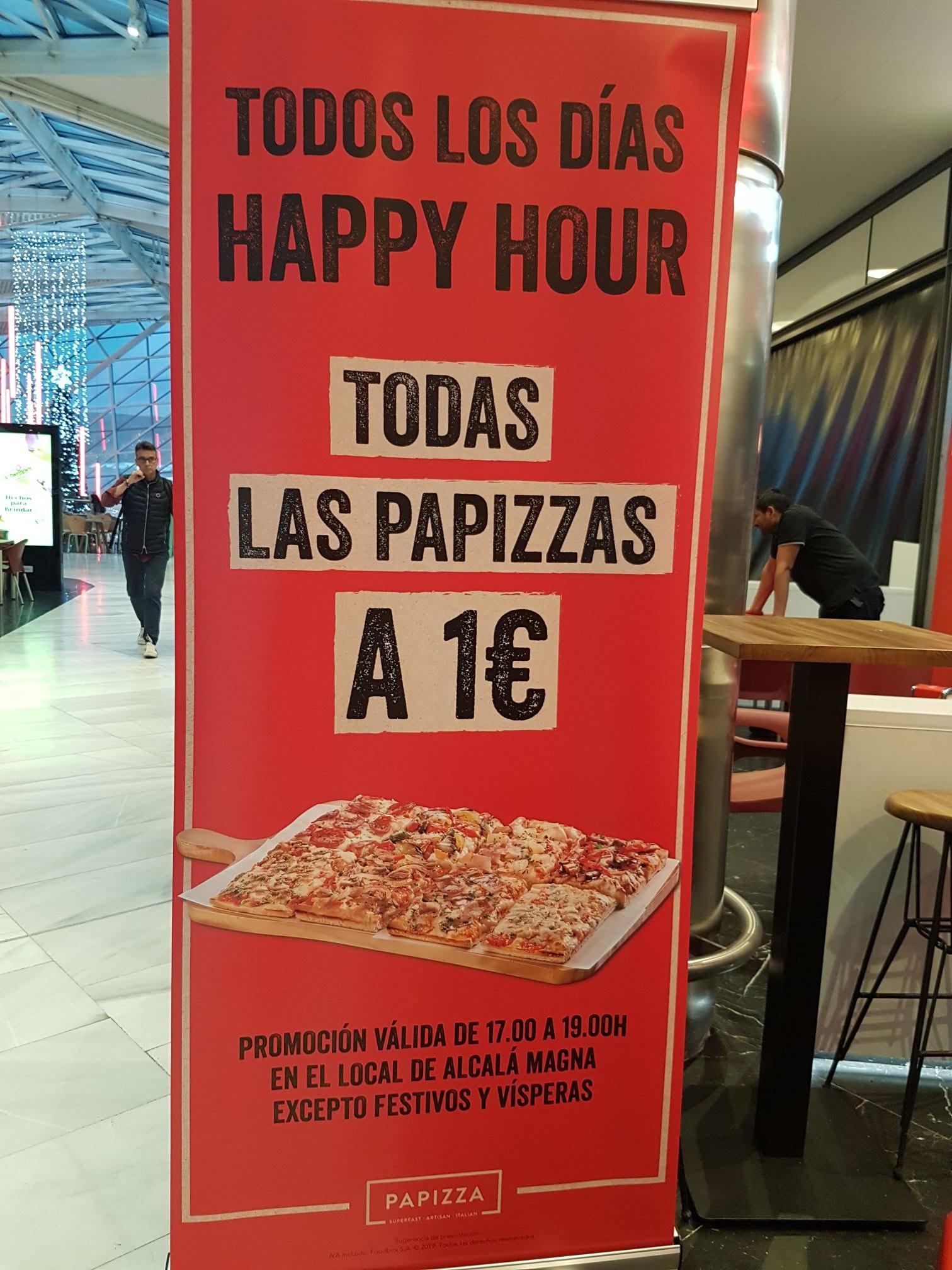 Papizza 1€ de 17:00 a 19:00
