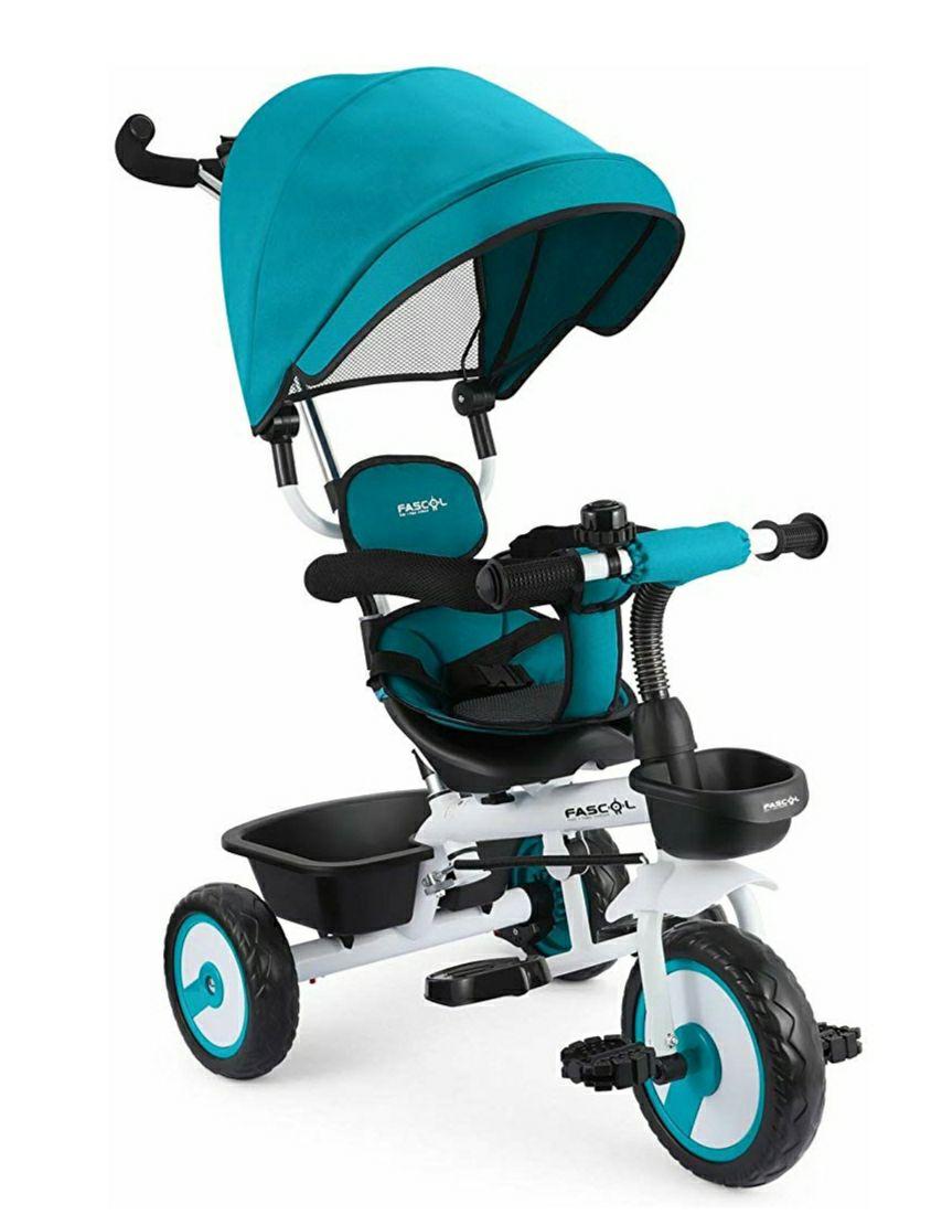 Fascol 4 en 1 Triciclo para Niños con Asiento Giratorio Adecuado para Mayores de 12 Meses - 5 años