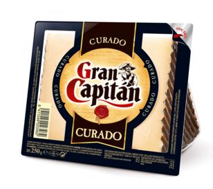 Gran Capitan queso curado cuña 250 gr