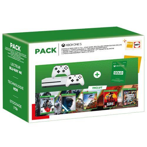 Xbox One S 1TB +5 Juegazos+Mando 267€