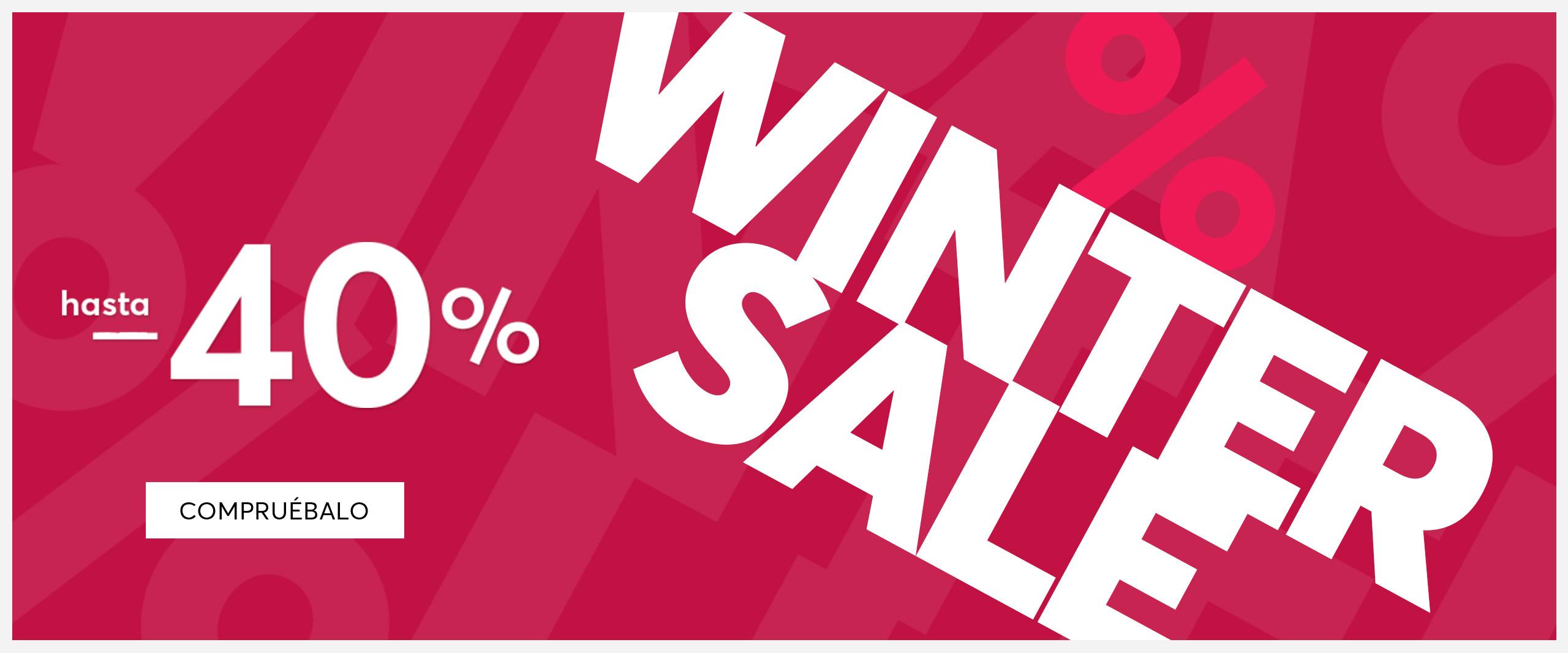 WINTER SALE -40% Y Oferta del dia hasta -30% + Suscríbete a nuestro Boletín de noticias Recibe 10 euros*
