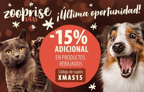 15% descuento adicional en productos rebajados en zooplus + calendario gratis