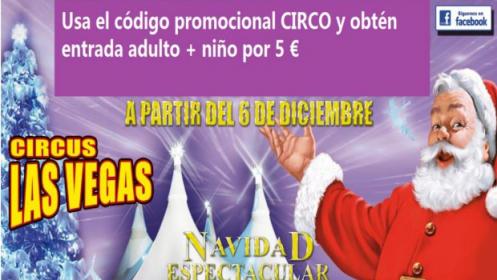 Circus Las Vegas. Entrada adulto + niño