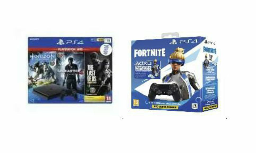 Consola Playstation 4 Slim 1TB + TLOU + HZD + Uncharted 4 + DualShock 4 V2 + Fortnite VCH 2019 (Desde España)