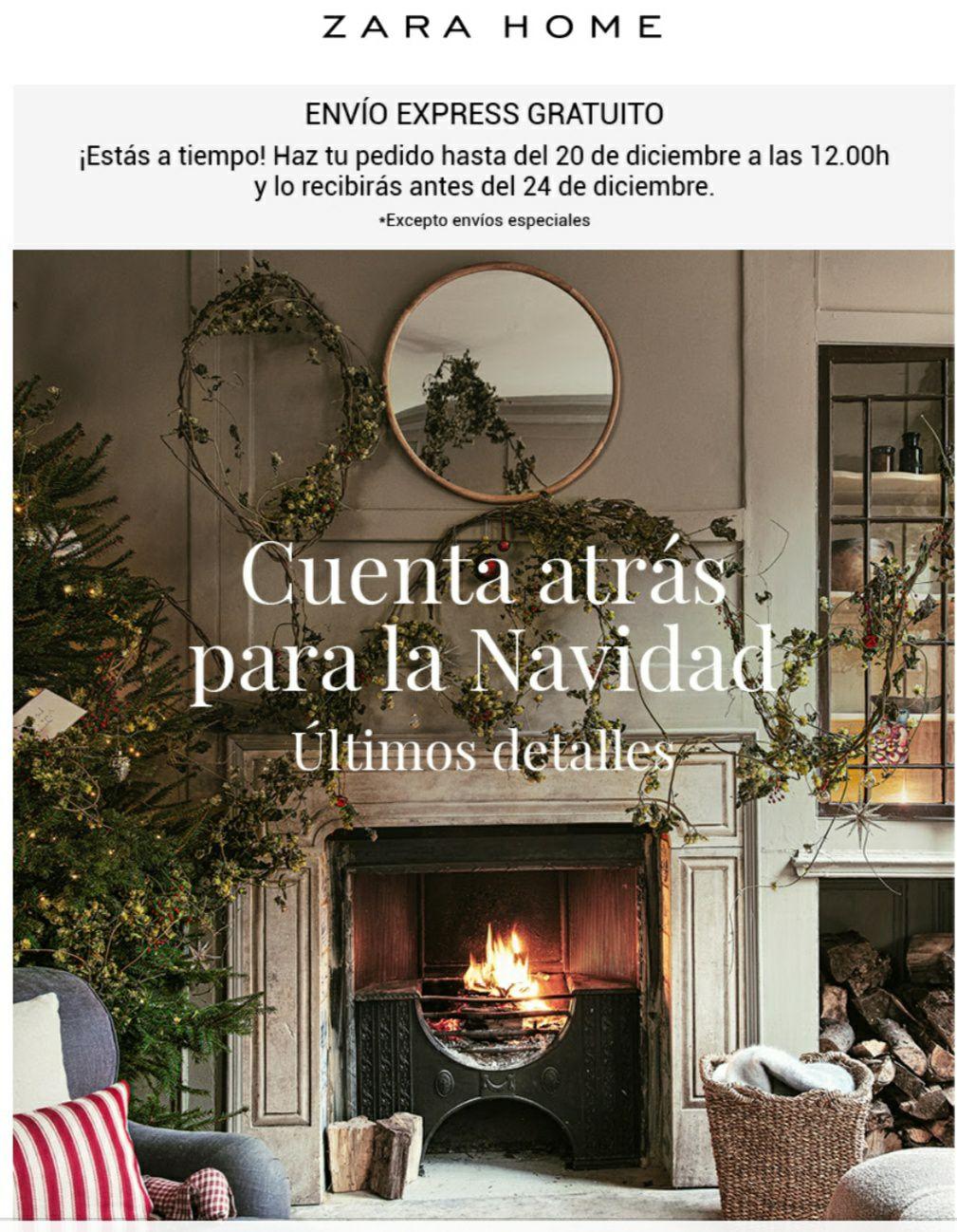 Envío express gratis en Zara Home hasta el 20 de diciembre