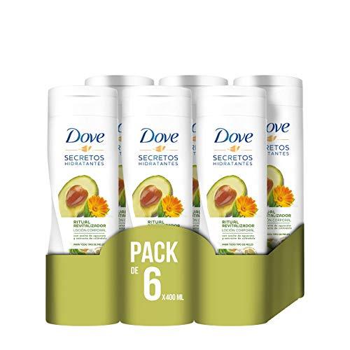 AHORRA UN 54% Dove Aceite de Aguacate y Extracto de Caléndula Loción Corporal 400 ml - [Pack de 6]
