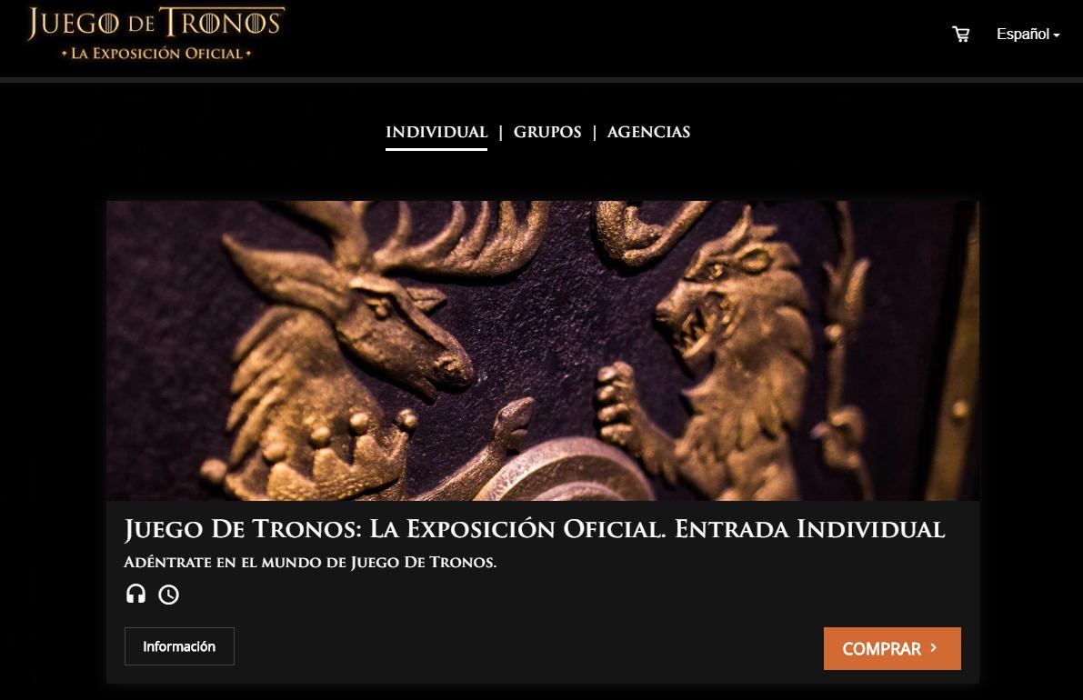 Cupón descuento exposición Juego de Tronos IFEMA (Madrid)