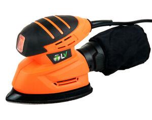 Lijadora de Mano Mouse Delta 130W/1500 rpm con Bolsa de Recogido