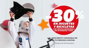 30% en juguetes y bicicletas en Carrefour