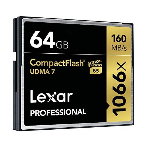 Tarjeta de Memoria CompactFlash 1066x de 64 GB Lexar Professional