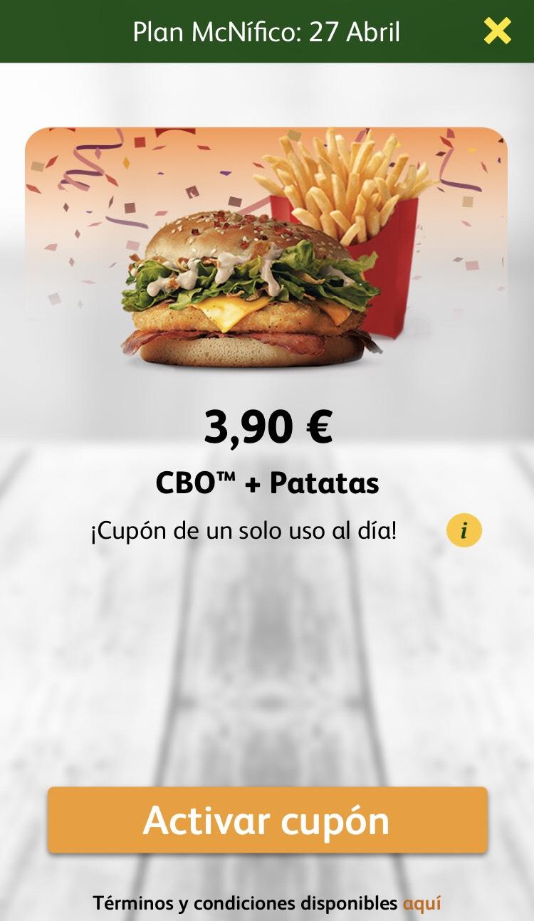 Oferta diaria CBO + patatas 3,90€