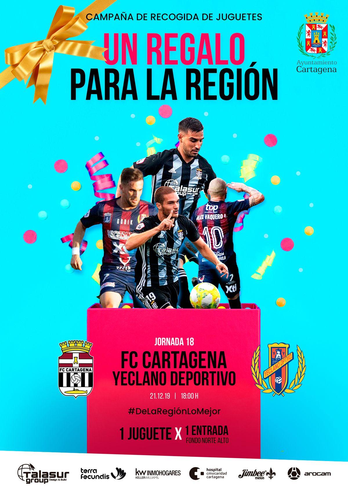 Entrada gratis por juguete para Cartagena - Yeclano