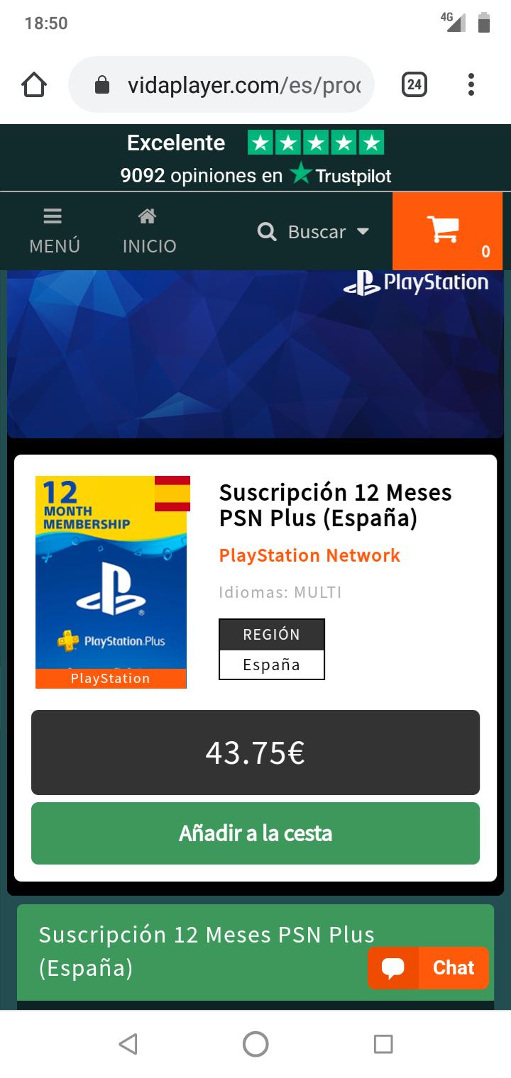 PSN Plus 12 meses (SOLO ESPAÑA)