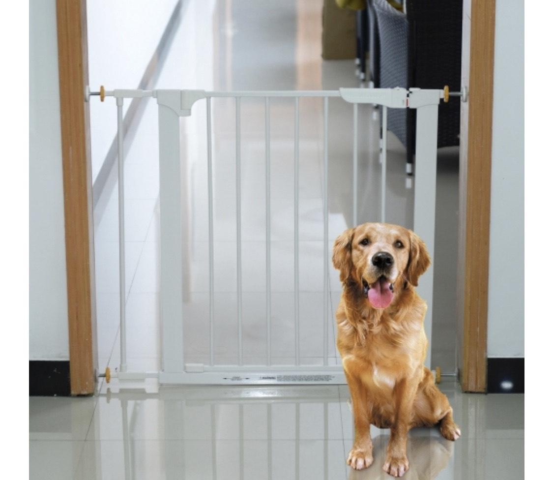 Barrera con puerta de seguridad para Mascotas (o niños)