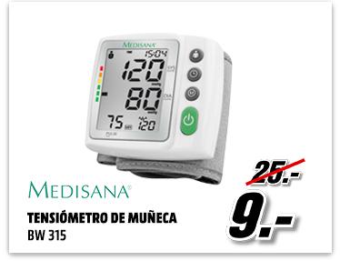 Tensiómetro - Medisana BW 315, muñeca, fácil lectura.
