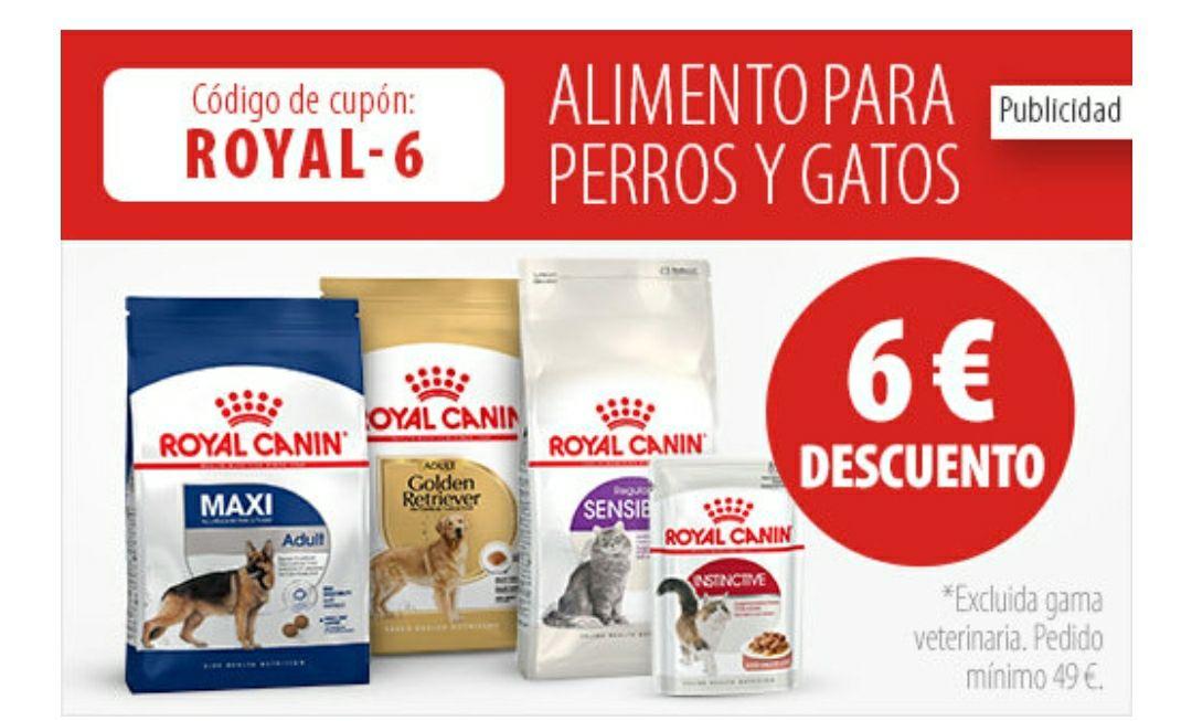6€ descuento en productos Royal Canin