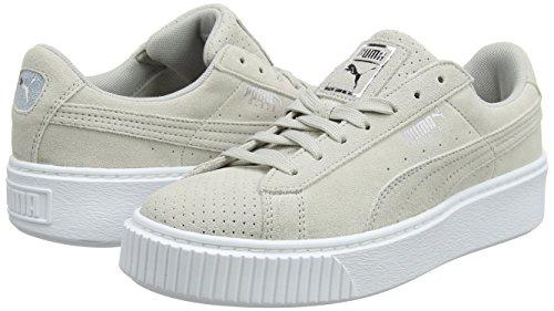 TALLA 40.5 - PUMA Suede Platform Perf, Zapatillas para Mujer