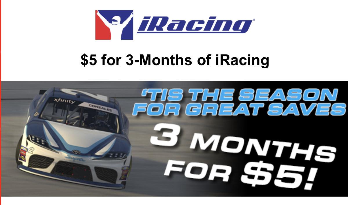 5$ por 3 meses en iRacing para cuentas expiradas