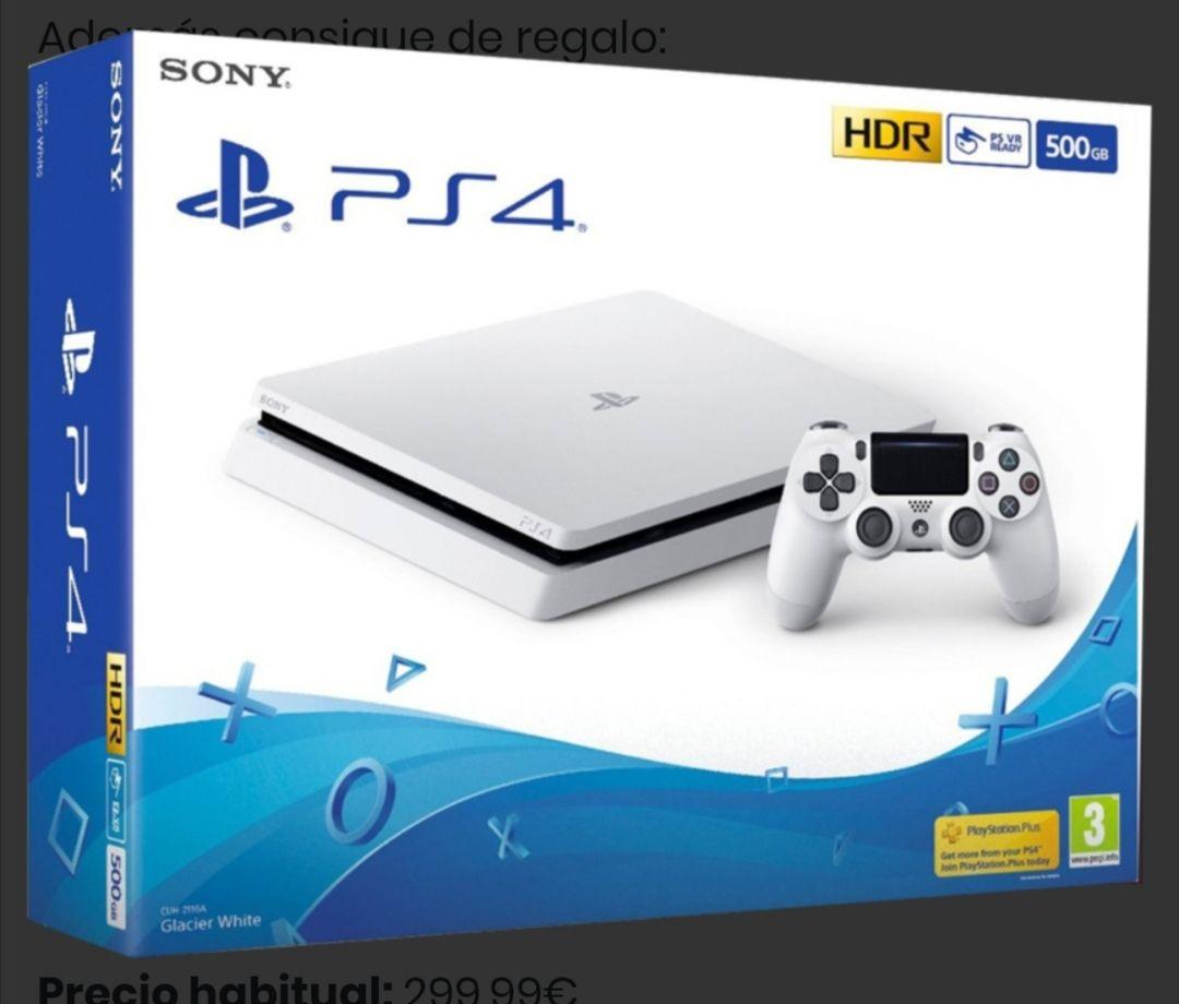 PS4 Slim Consola 500GB Blanca + regalo