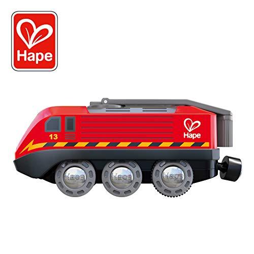 Hape- Tren accionado por manivela, Multicolor Producto plus