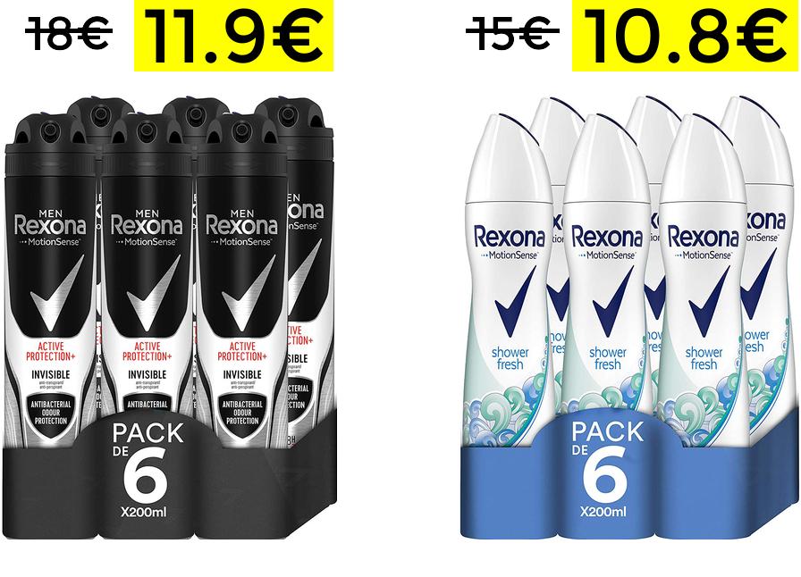 Bajadas de precio en packs desodorantes Rexona
