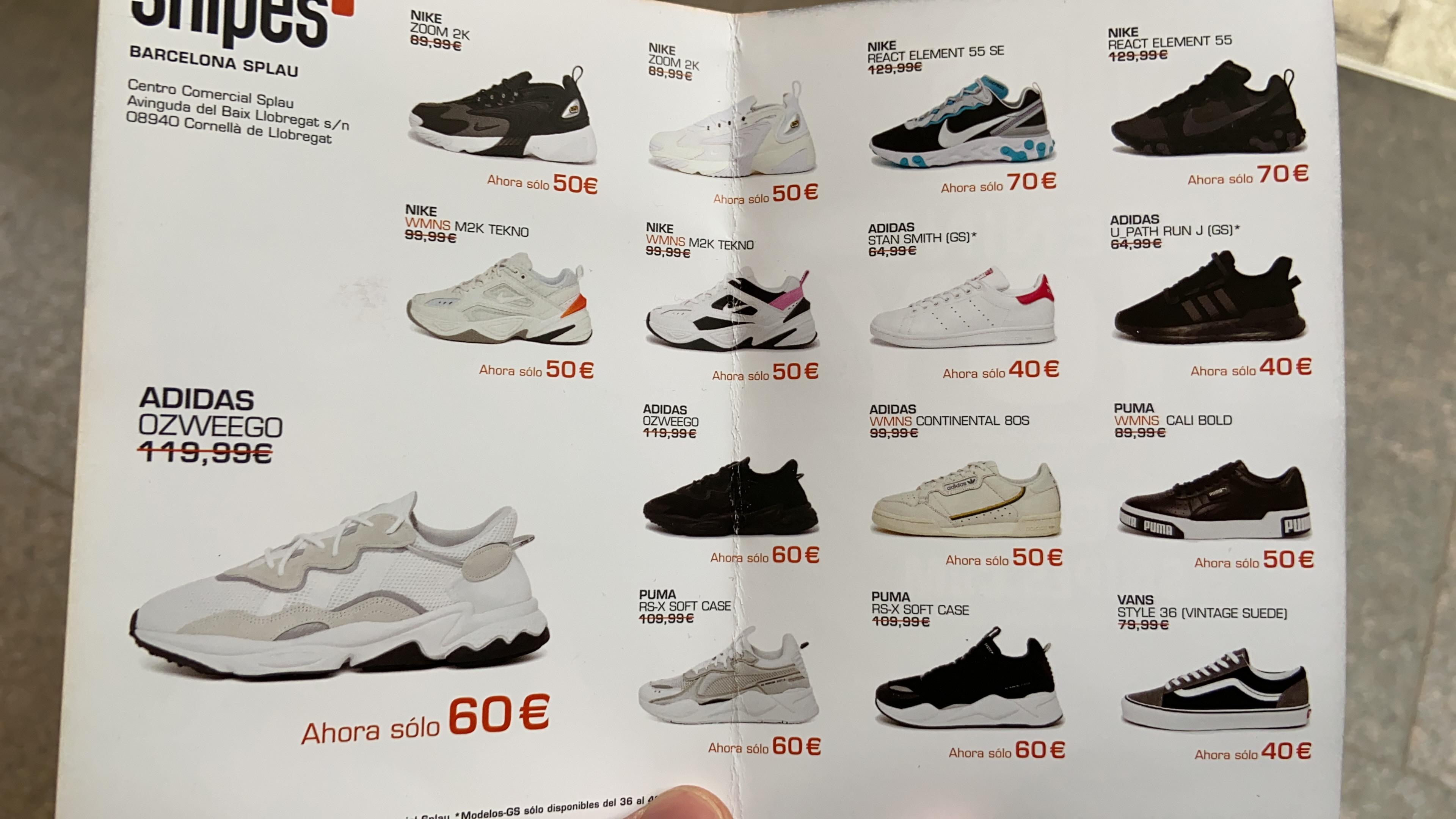 Zapatillas en oferta: Apertura Snipes en C.C. Splau (Cornellà de Llobregat)