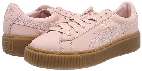 TALLA 39 - PUMA Basket Platform Euphoria Gum, Zapatillas para Mujer