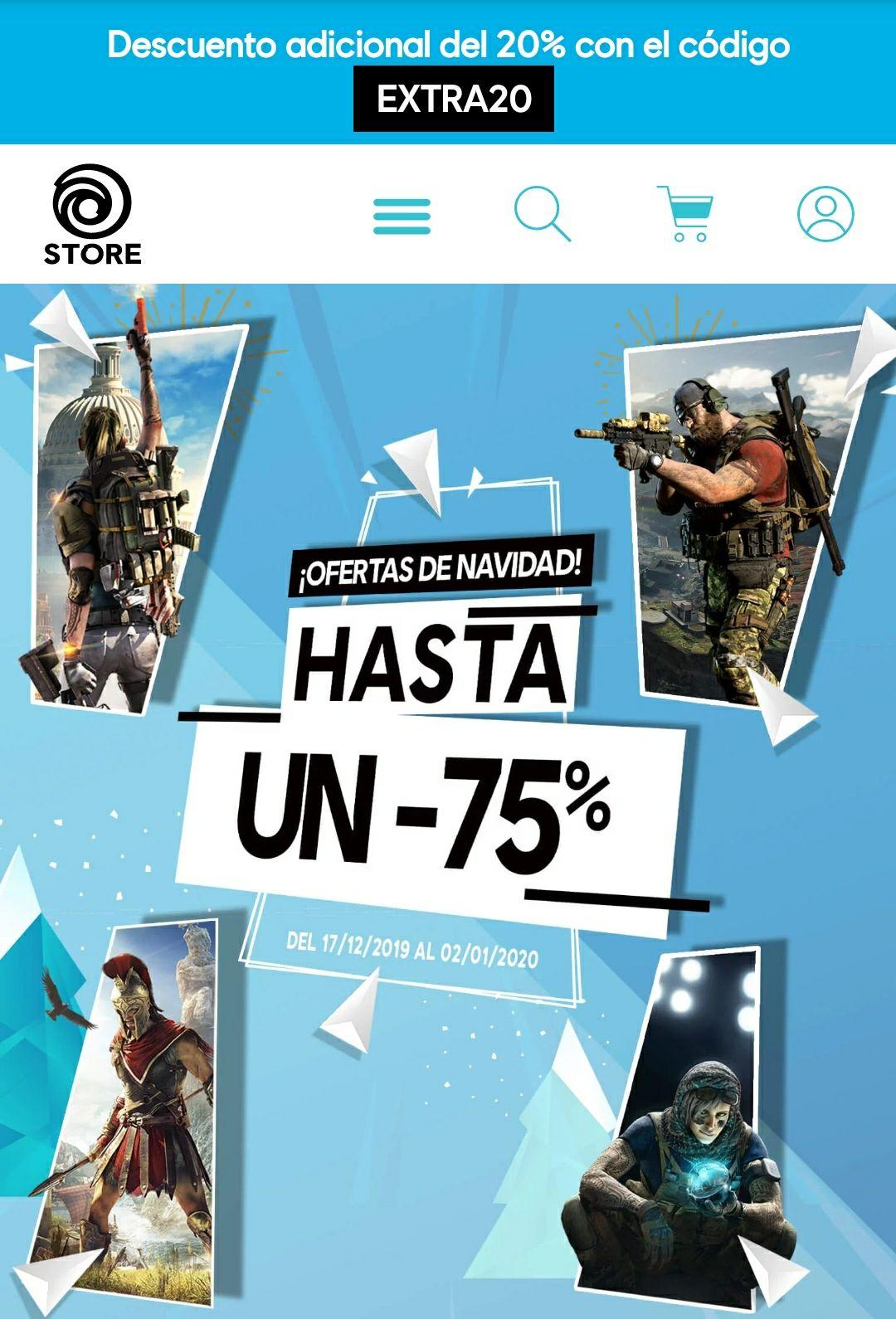 Ofertas de Navidad (Ubisoft Store)