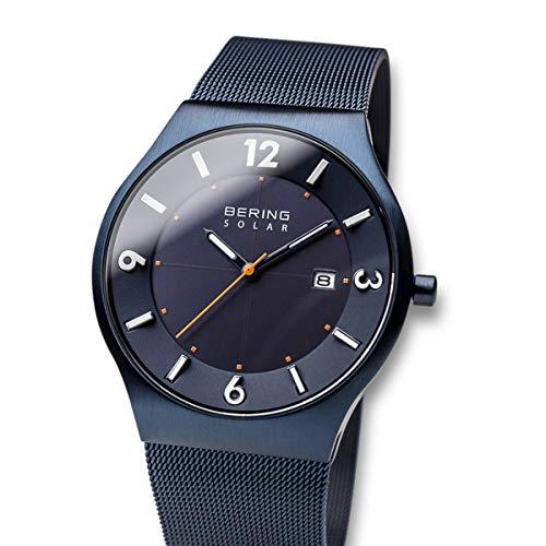 BERING Reloj Analógico para Hombre de Energía Solar con Correa en Acero Inoxidable 14440-393