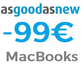 99€ de descuento en MacBooks [Nuevos y usados] superando 500€ de compra