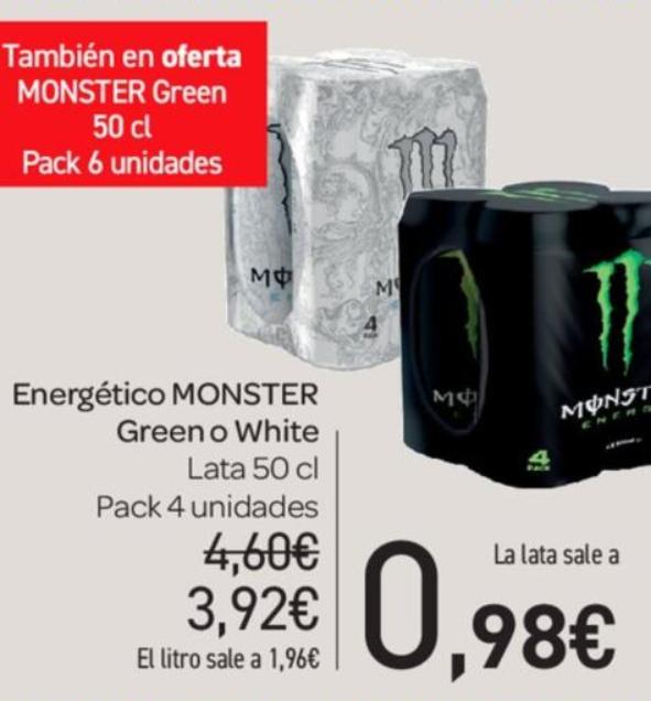 Monster white o green a 0.98€ en carrefour