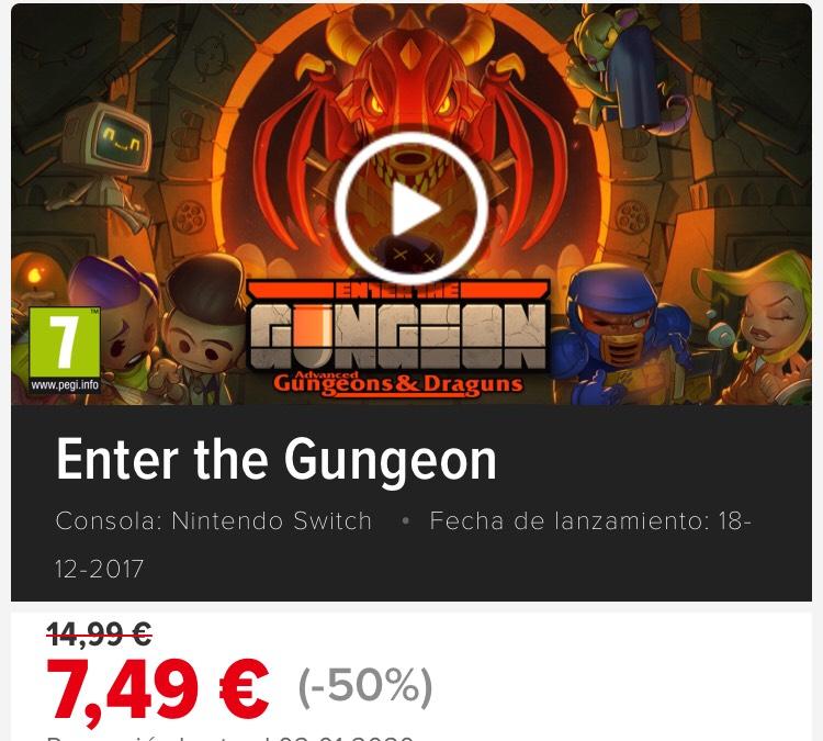 Enter the Gungeon Nintendo Switch