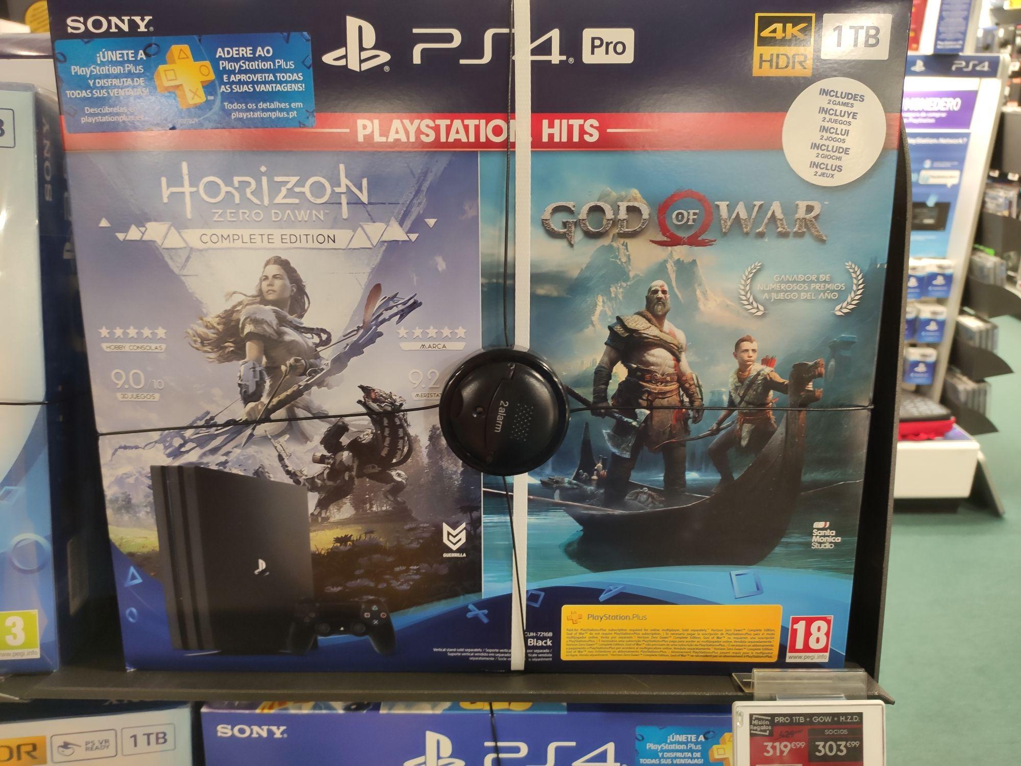 Ps4 Pro + god of war + Horizon zero down + PS hits a 5€