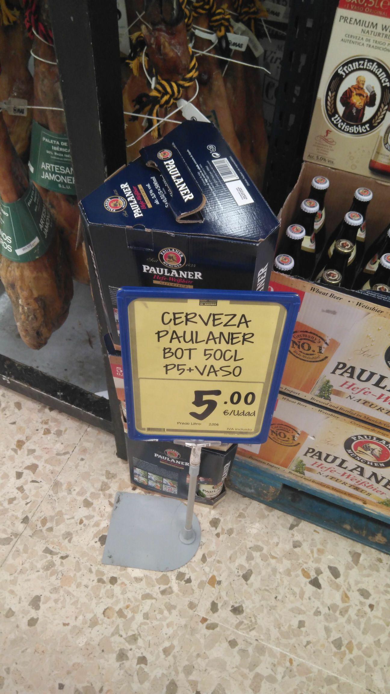Pack 5 cervezas Paulaner con vaso de regalo!!