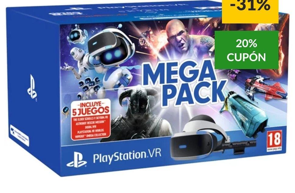 Sony - Mega Pack VR PlayStation 4 +20% de regalo en cupón(44€)