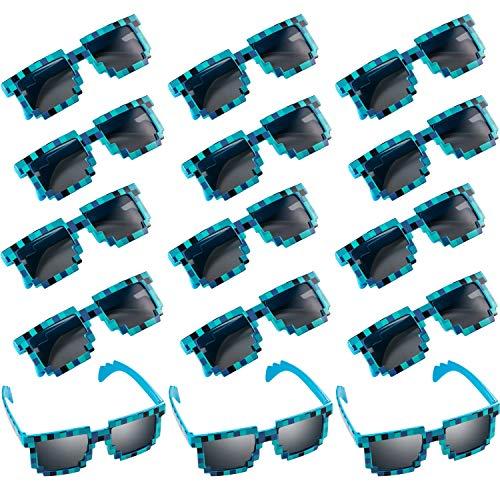 15 pares de gafas de sol pixel Retro azul o purpura