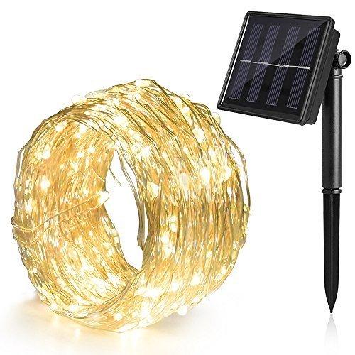 Cadena de luces solares 12m 8 modos Ankway