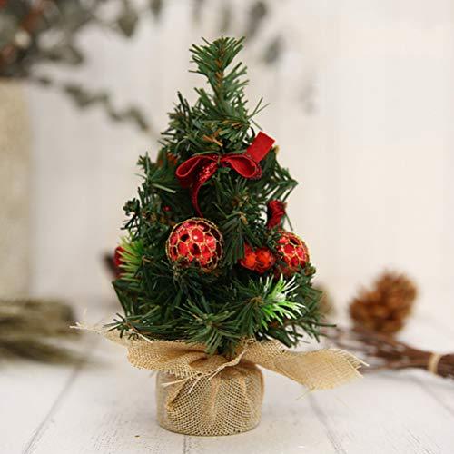 Pequeño árbol de Navidad para decoración de Mesa de casa y Fiesta(Rojo)