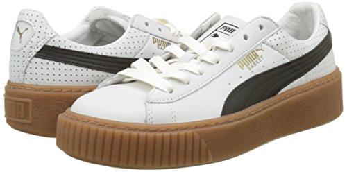 TALLA 40.5 - PUMA Basket Platform Perf Gum, Zapatillas para Mujer