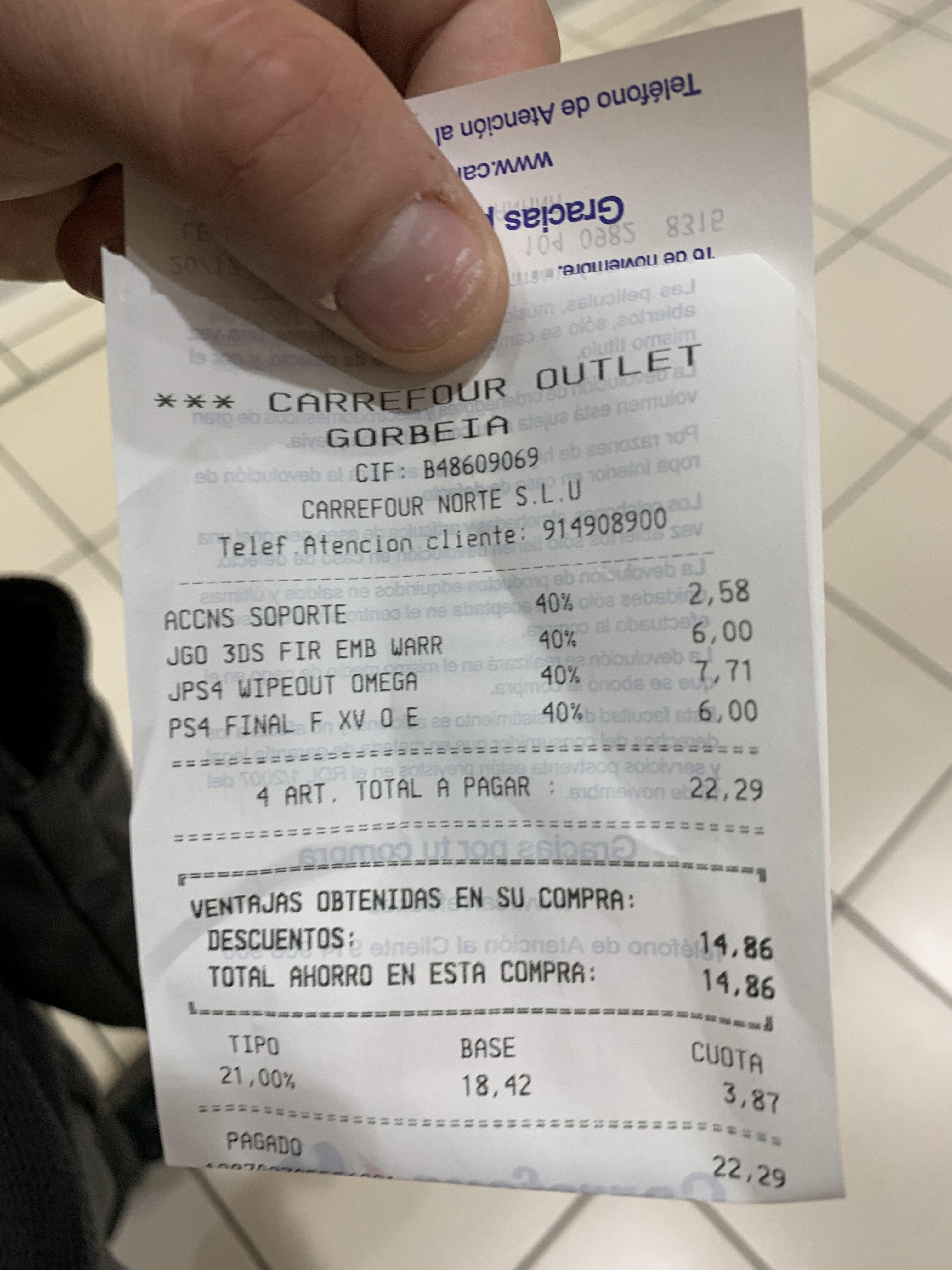Centro comercial Gorbeia - Carrefour outlet juegos con 40% de descuento